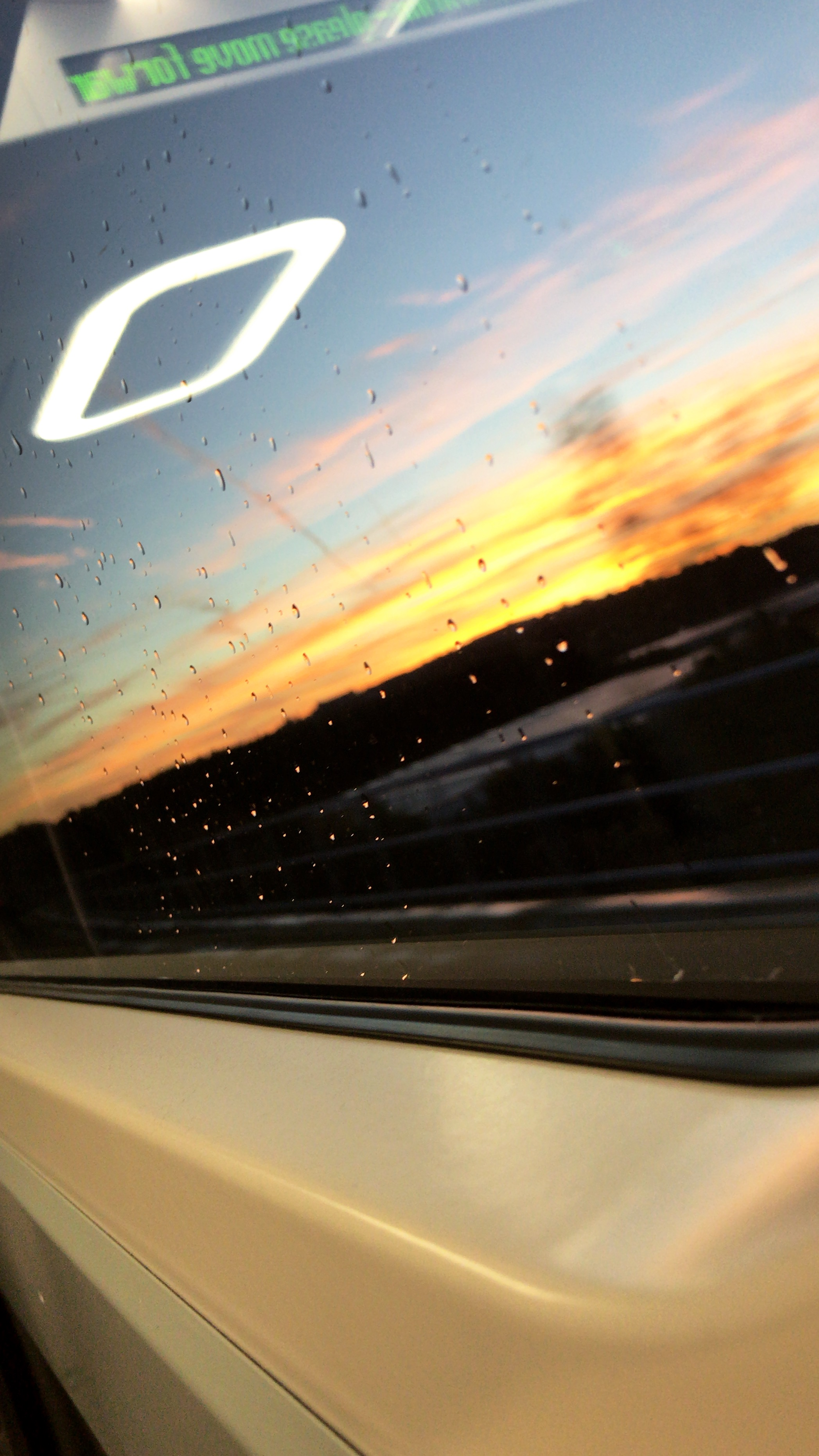 View out of train window